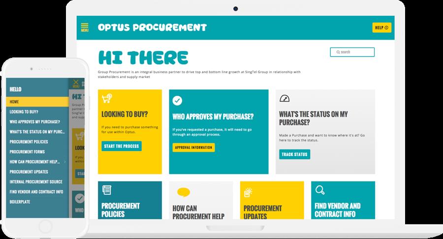 Optus Website Design