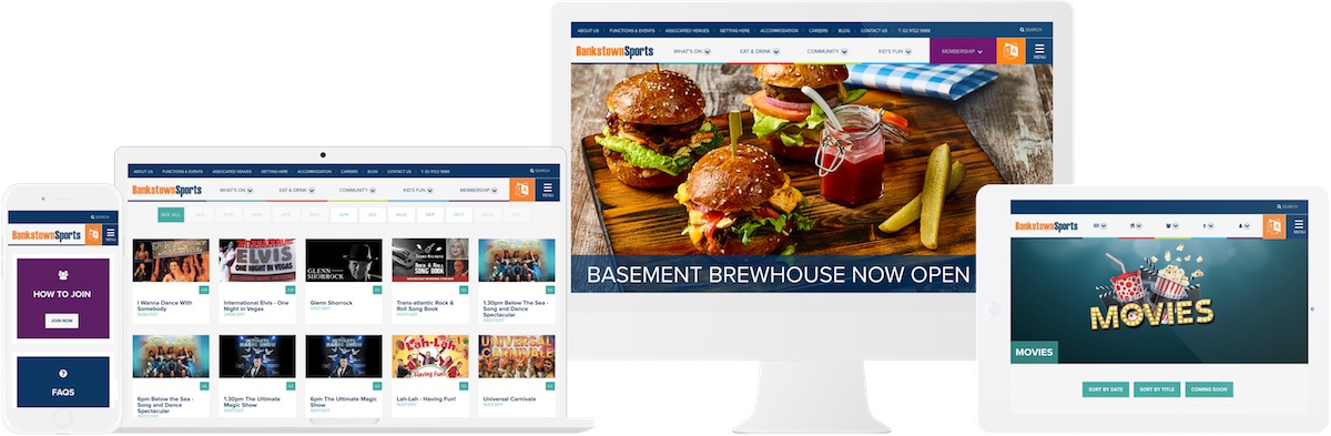 Bankstown Sports Club Website Design