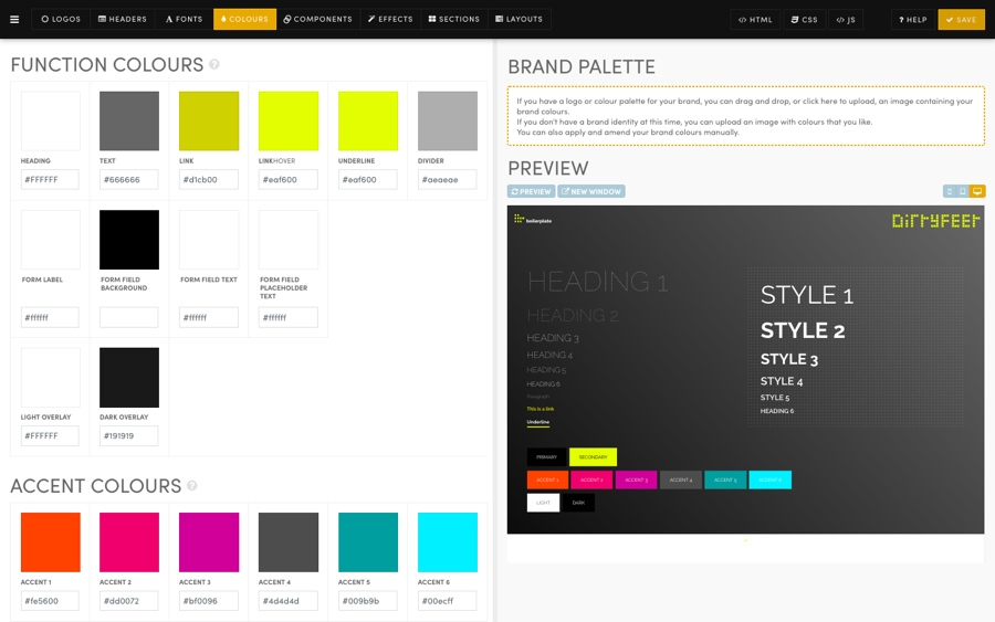 MOBLE CMS Function Colours