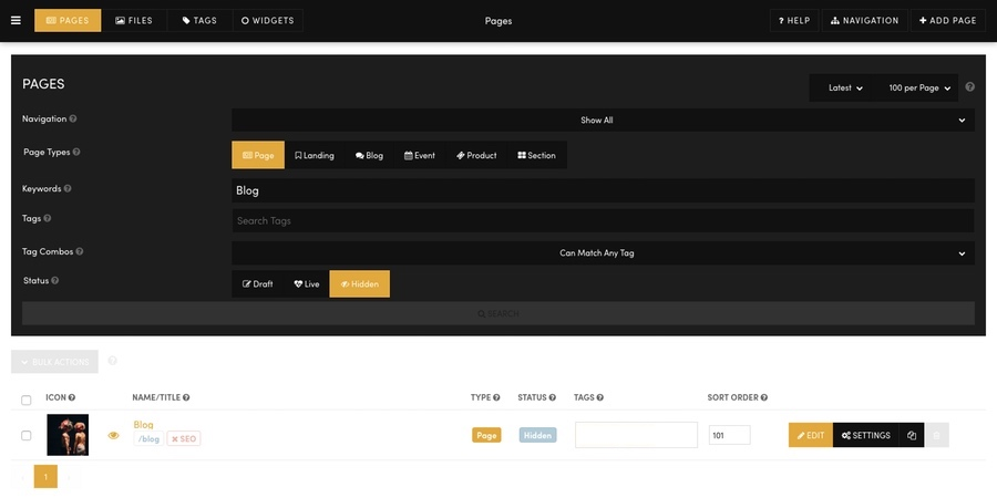 MOBLE CMS Landing Page