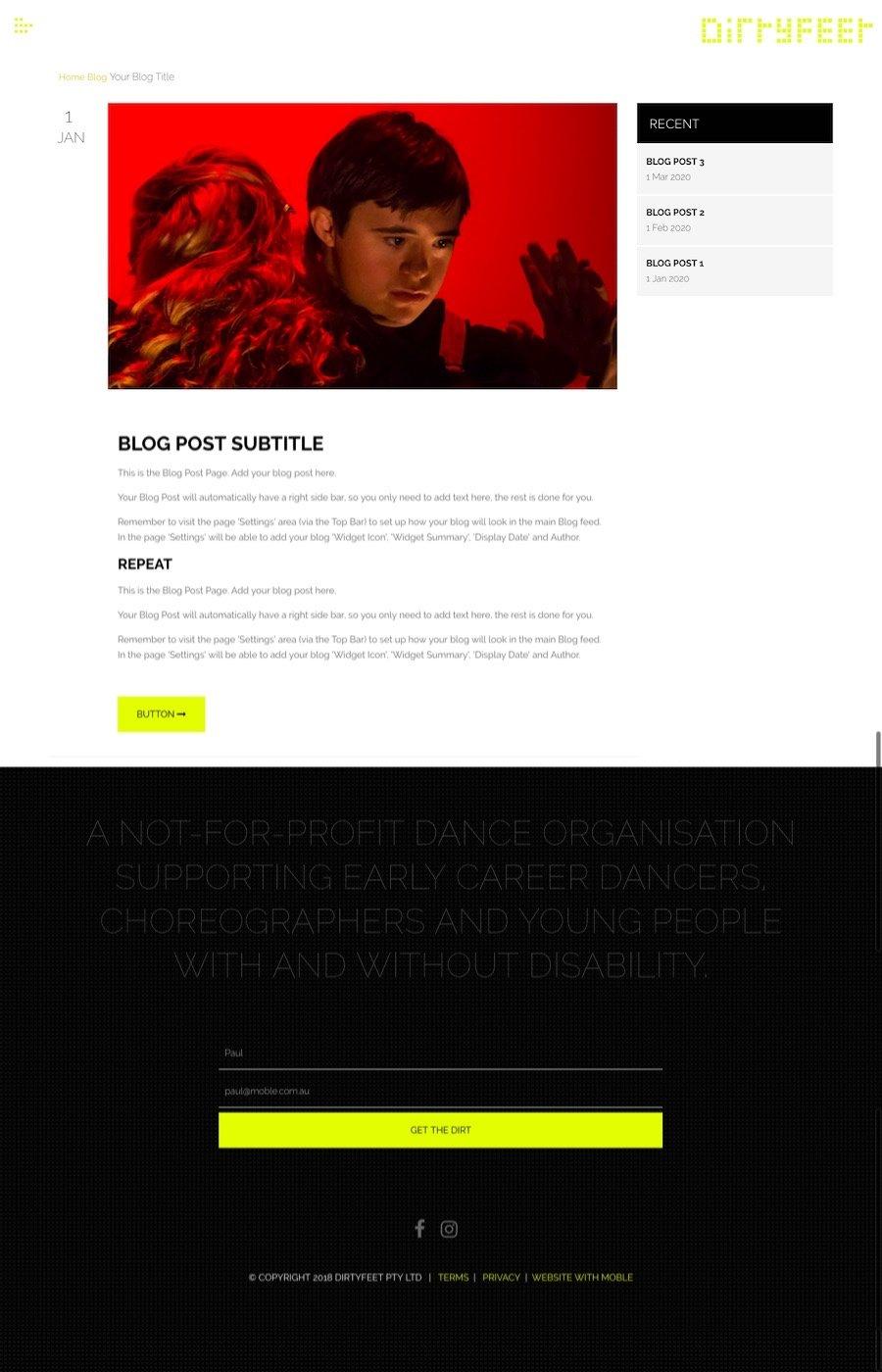 MOBLE Default Blog Page