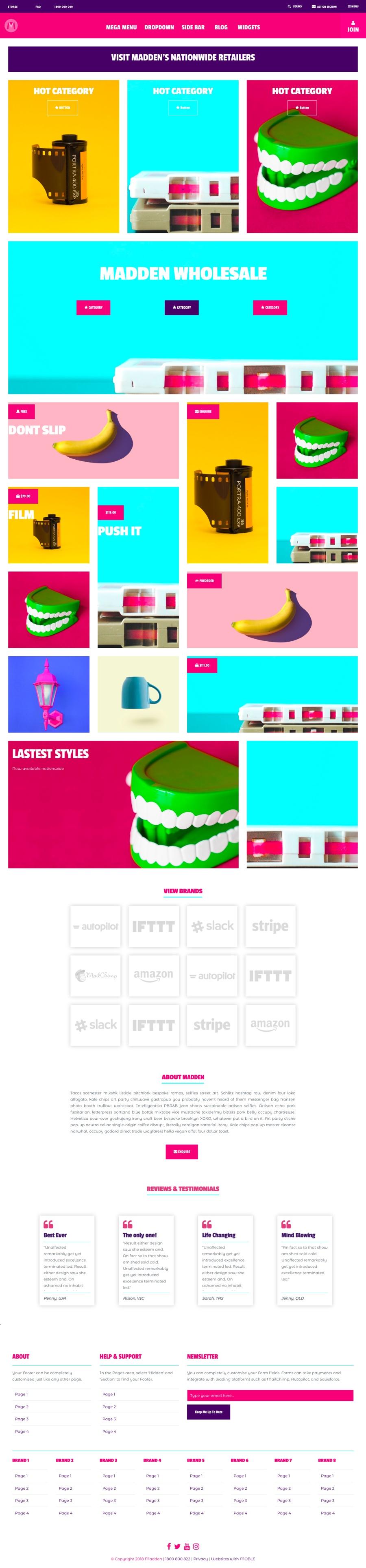 Madden Website Design Template