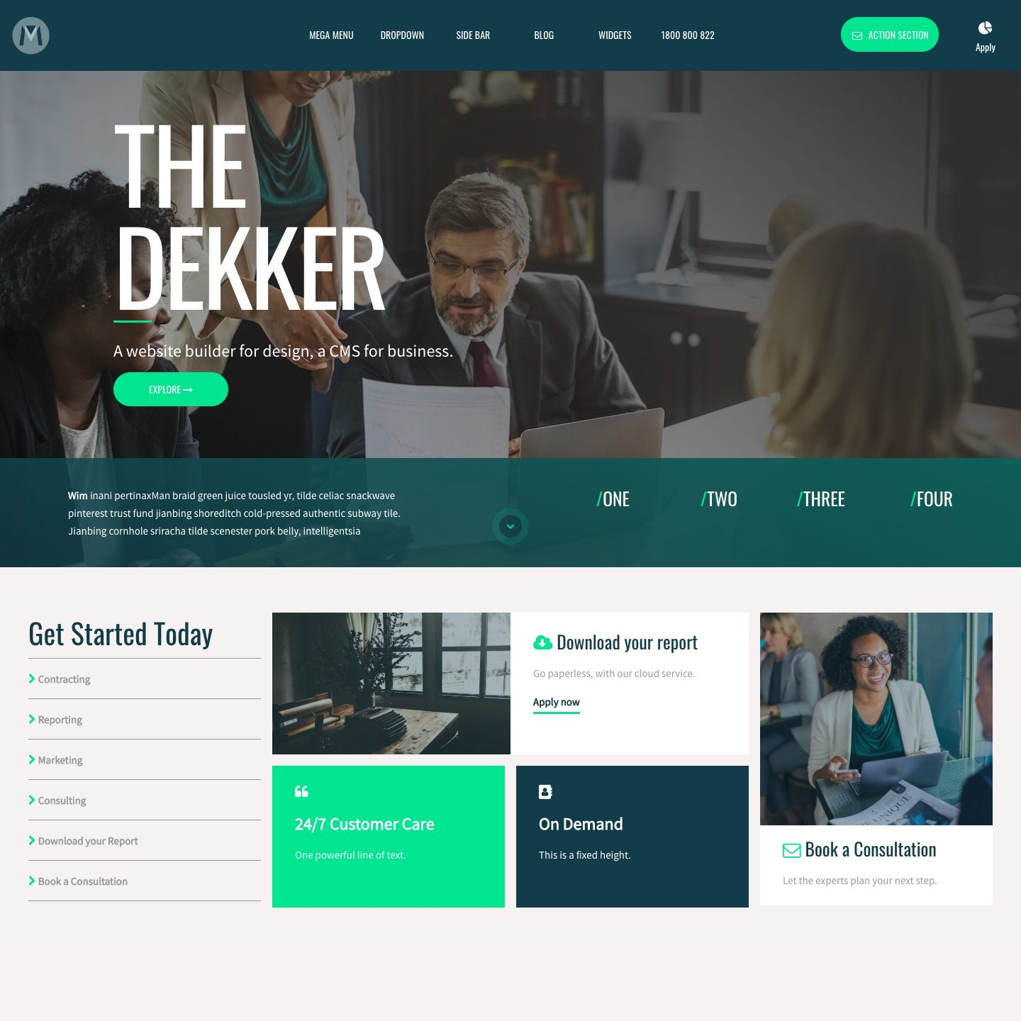 Dekker Website Design by MOBLE