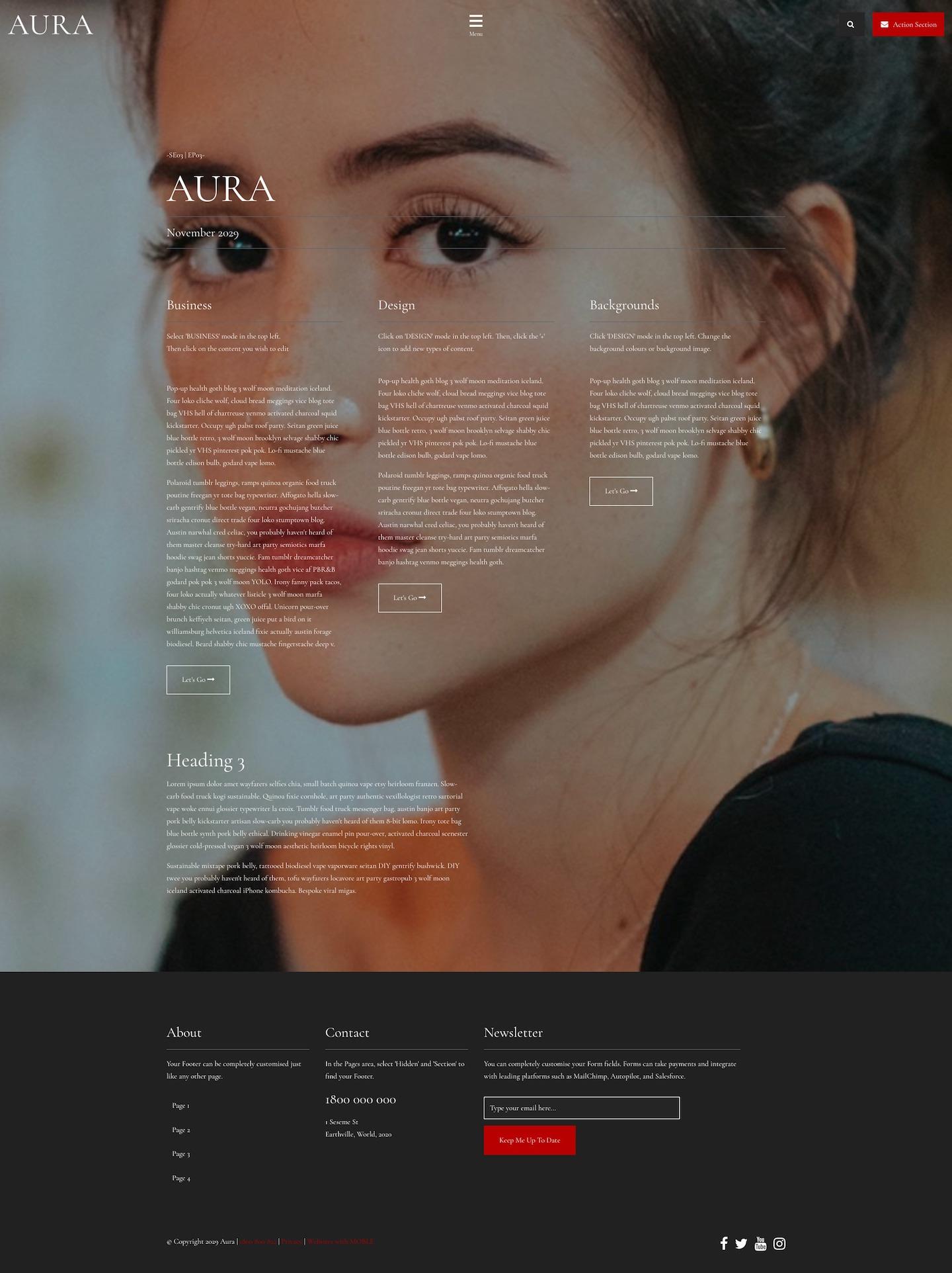 Aura Website Design