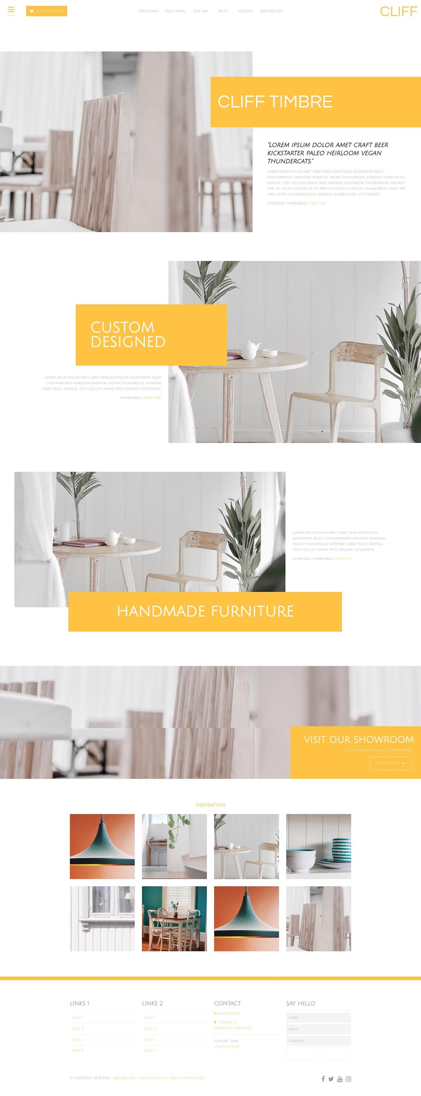 Cliff Website Design