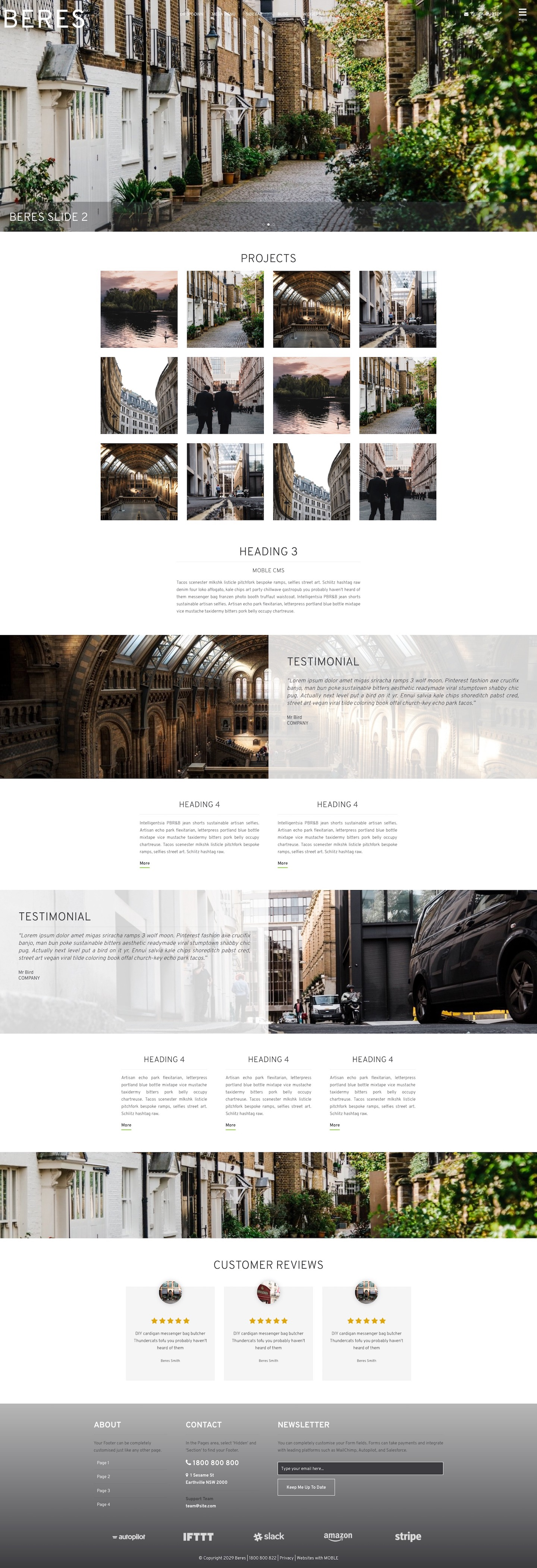 Beres Website Design