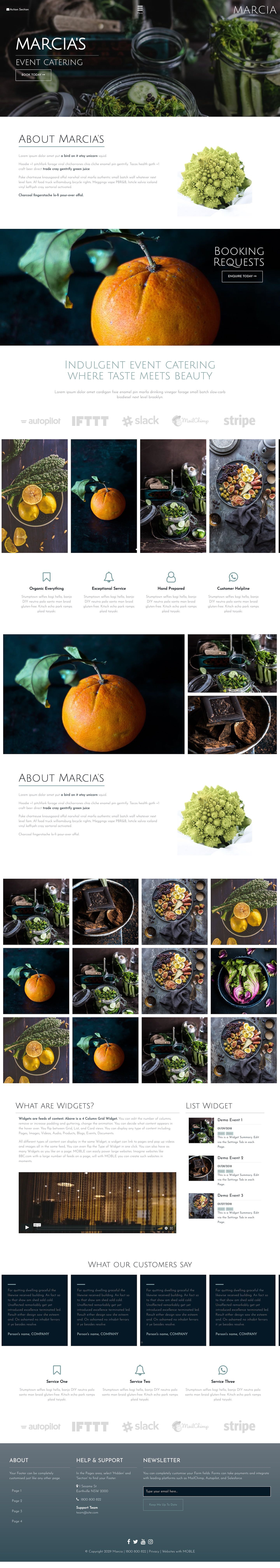 Marcia Website Design