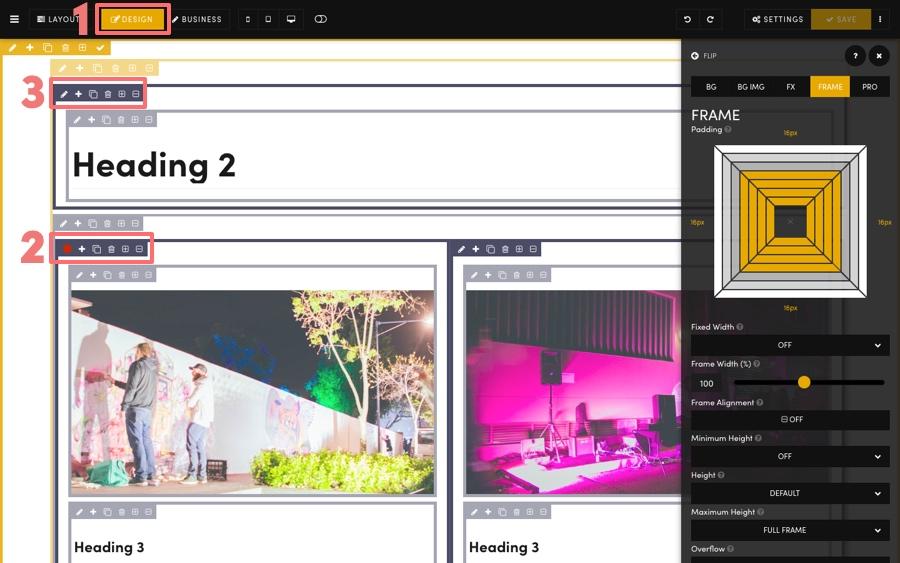 Frames Masterclass Block Design Mode