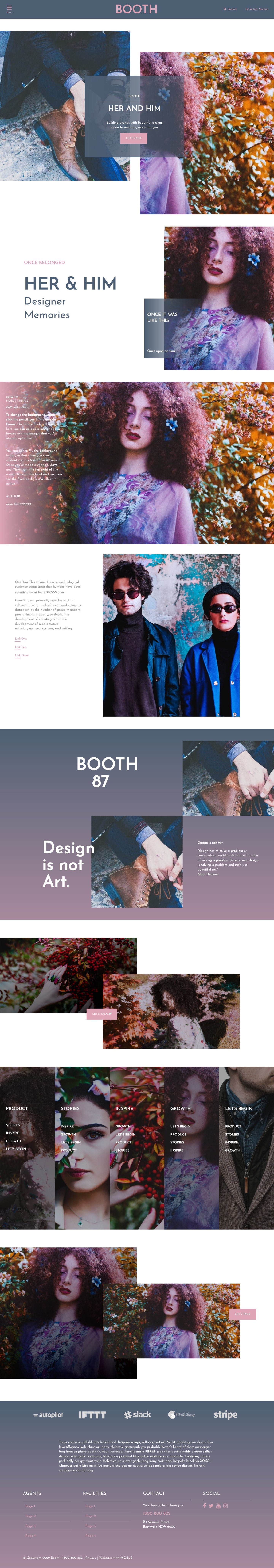 Booth Website Design