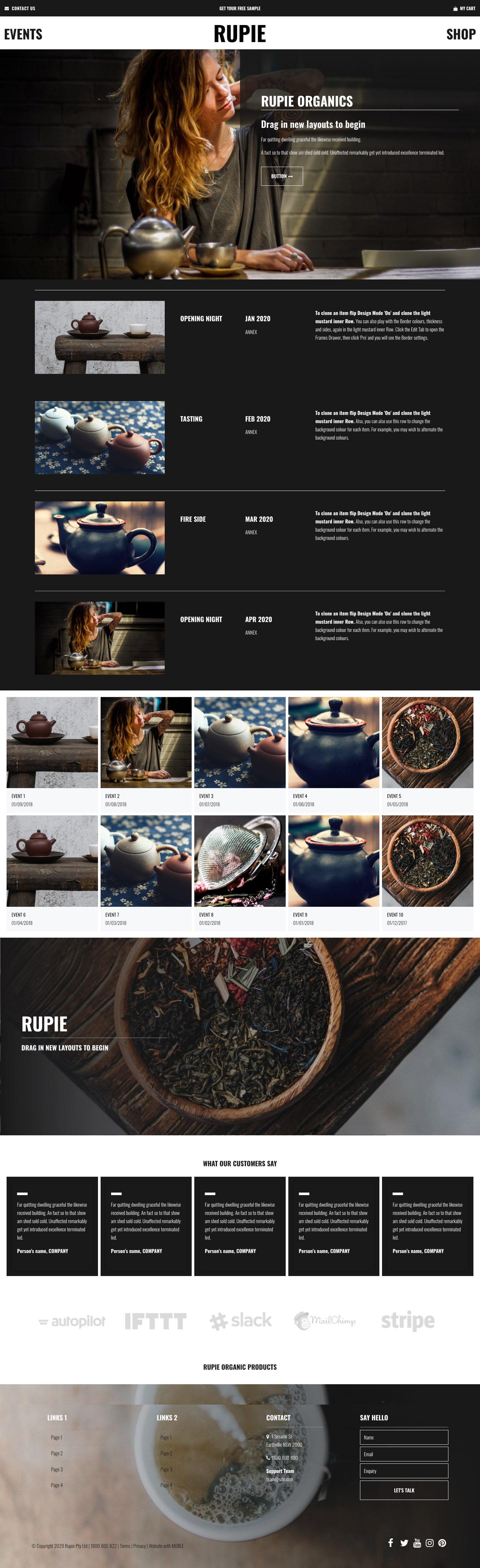Rupie Website Design