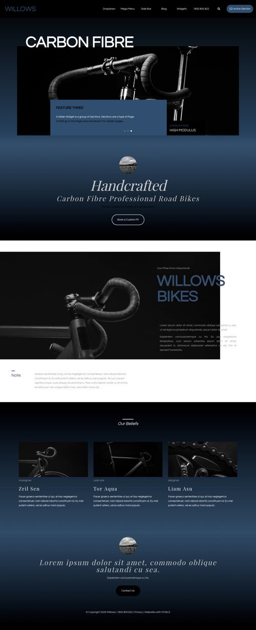 Willows MOBLE Website Design of the Month