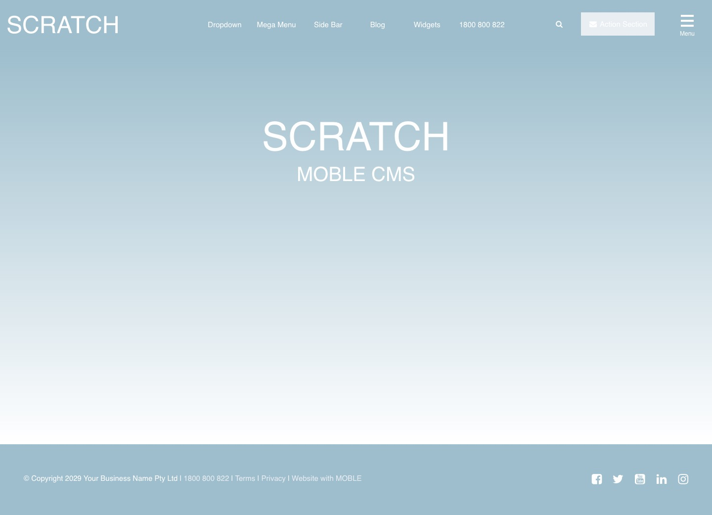 Scratch Website Design