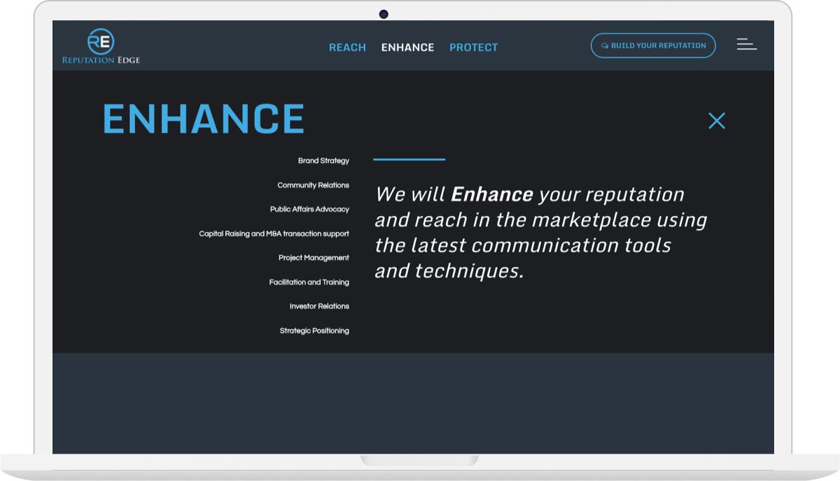 Reputation Edge Website Design Macbook