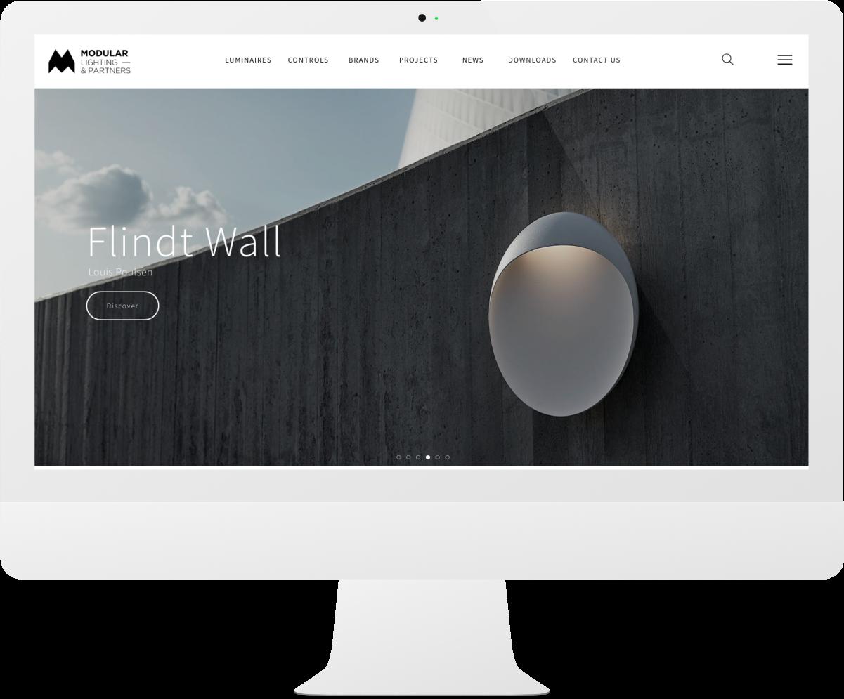Modular Lighting Minimal Website Design