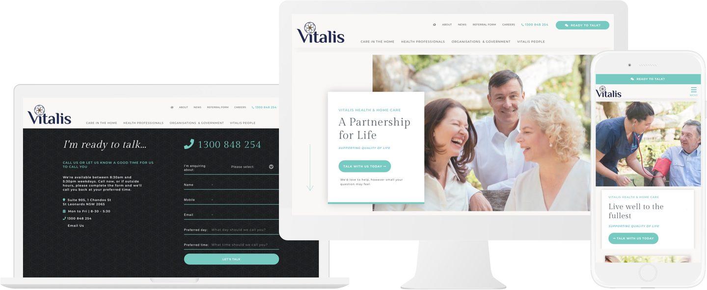 Vitalis Home Care Website Design
