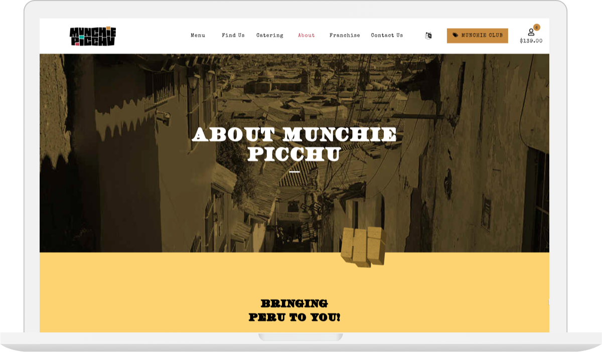 Munchie Picchu Web Design Macbook