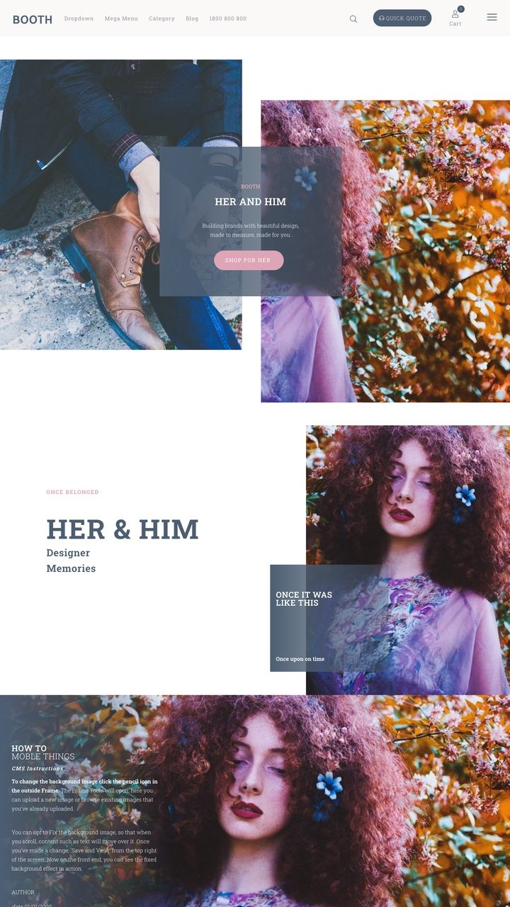 Booth Website Design Theme