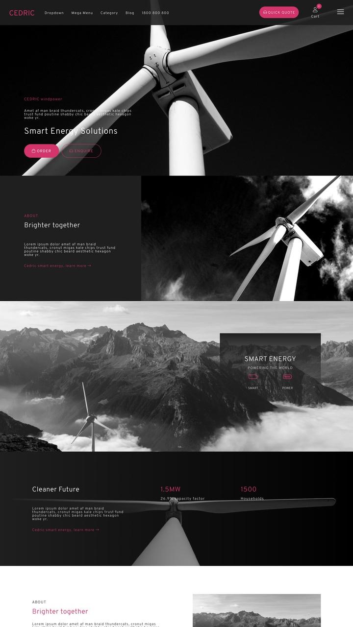 Cedric Website Design Theme