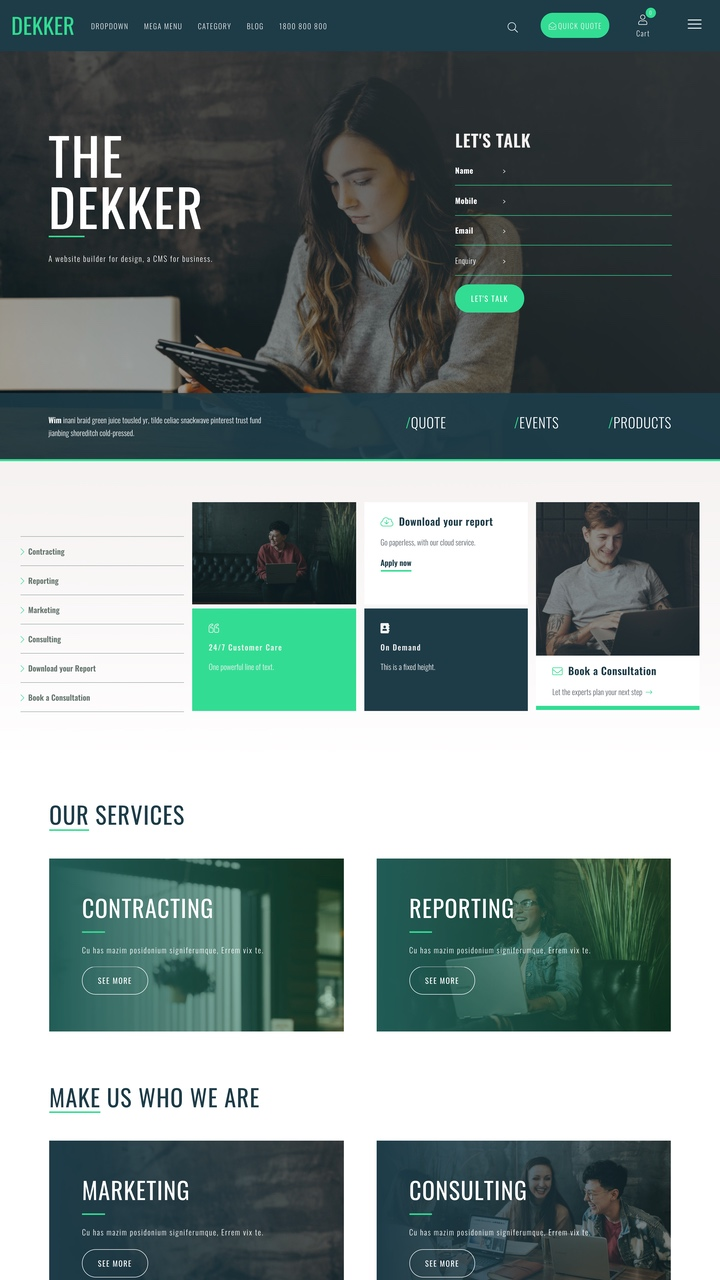 Dekker Website Design Template