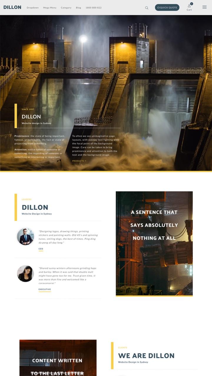 Dillon Website Design Theme
