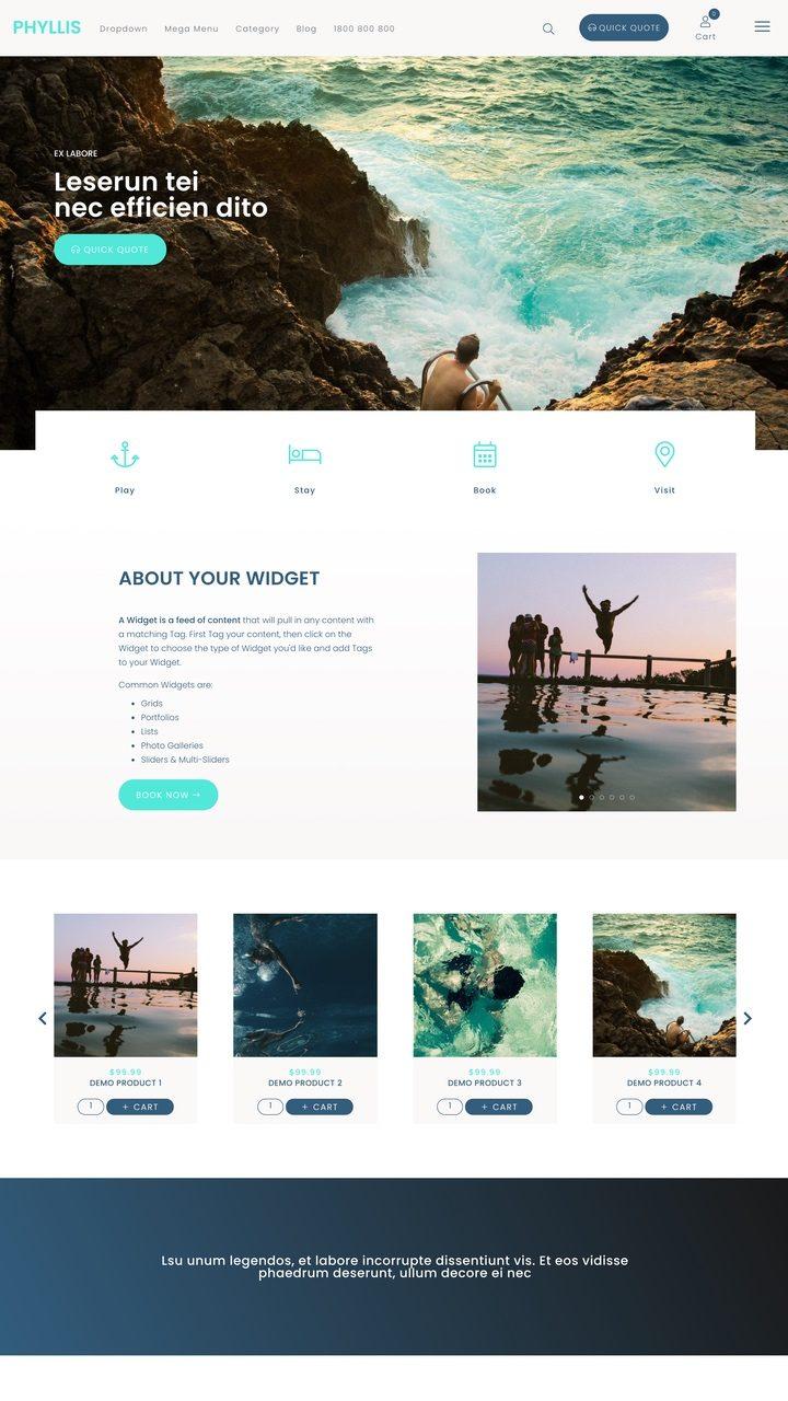 Phyllis Website Design Theme