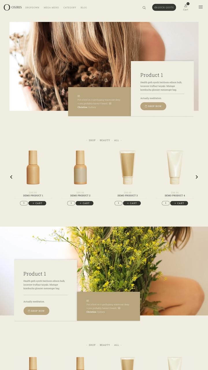 Osiris Website Design Theme